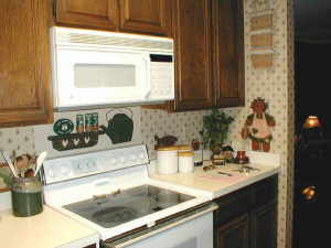 decorating kitchen, before pic
